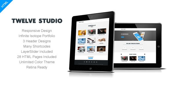 Themeforest - Twelve Studio - Responsive Multipurpose Template