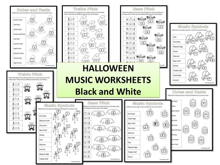 halloween music activities 24 halloween worksheets bw - Free Halloween Music Downloads Mp3