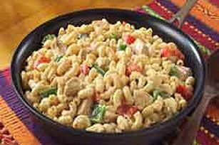 Here's a zesty fajita-style take on mac and cheese—made with onions, red and green peppers, chili powder and skillet-melted VELVEETA.