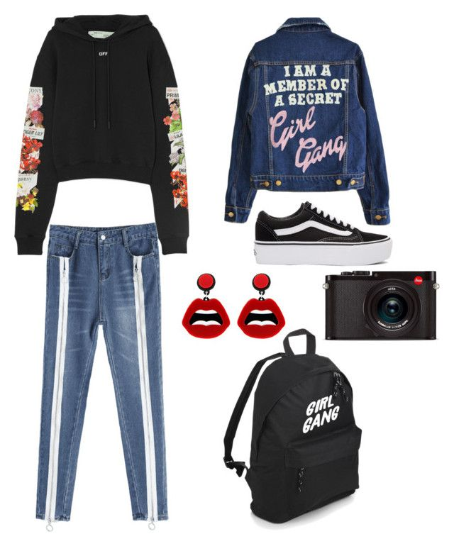 """""""Untitled #173"""" by denisapurple on Polyvore featuring Off-White, Vans, Leica and sweet deluxe"""