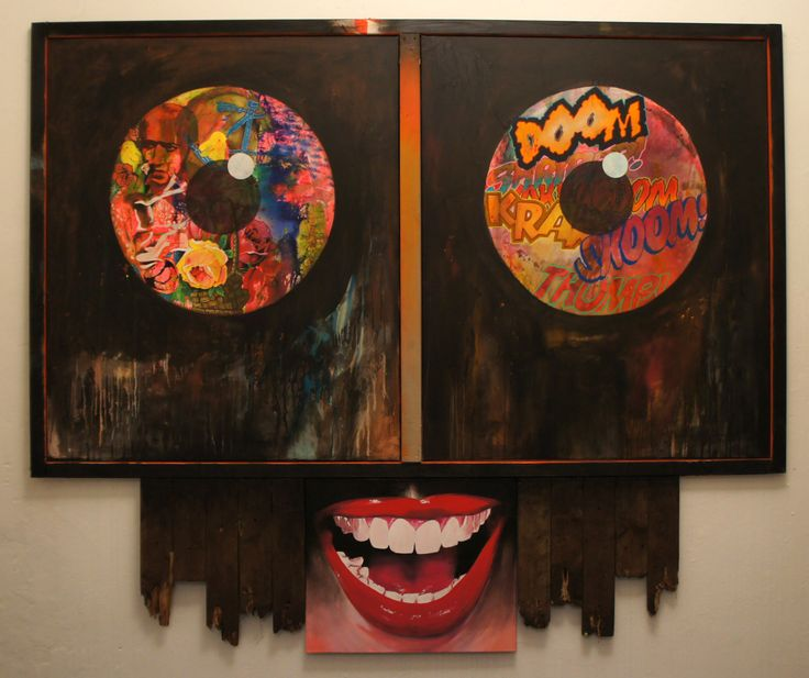 """elmar lause,""""doom"""", 2011, Other/ Multi disciplinary, painting / mixed media on canvas + wood,180x215cm"""