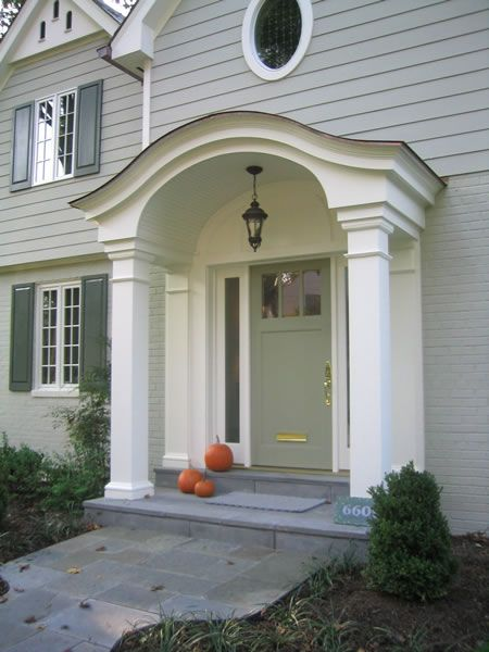 26 best images about front door color ideas on pinterest rhode island gray houses and porticos - Houses overhang practical design ...