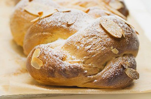 Sweet almond bread plait recipe - goodtoknow