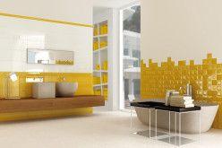 décoration salle de bain jaune