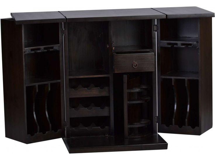 Bar aus Massivholz im rustikalen Landhausstil von MiaMöbel » Kostenlose Lieferung ✓ Bis in die Wohnung ✓ Voll montiert ✓ Kauf auf Rechnung ✓