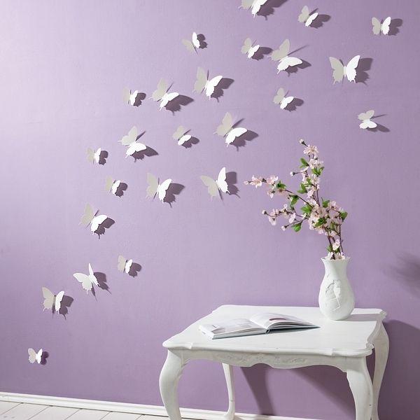 Nice Beschreibung Der Fr hling zieht mit diesen charmanten wei en Schmetterlingen in Ihr Haus ein