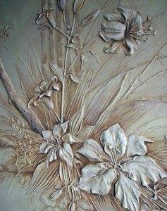 барельеф цветы своими руками - Поиск в Google