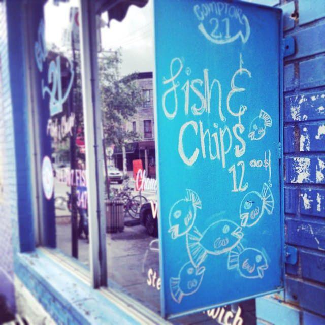 Comptoir 21 Fish & Chips Mile-end Montréal