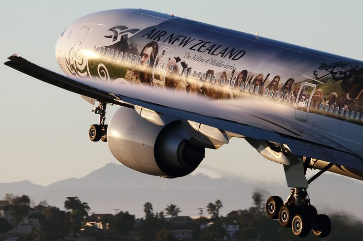 Air New Zealand Boeing 777 (ZK-OKP) in special Hobbit Livery. Image by Brandon Farris for AirlineReporter.com.