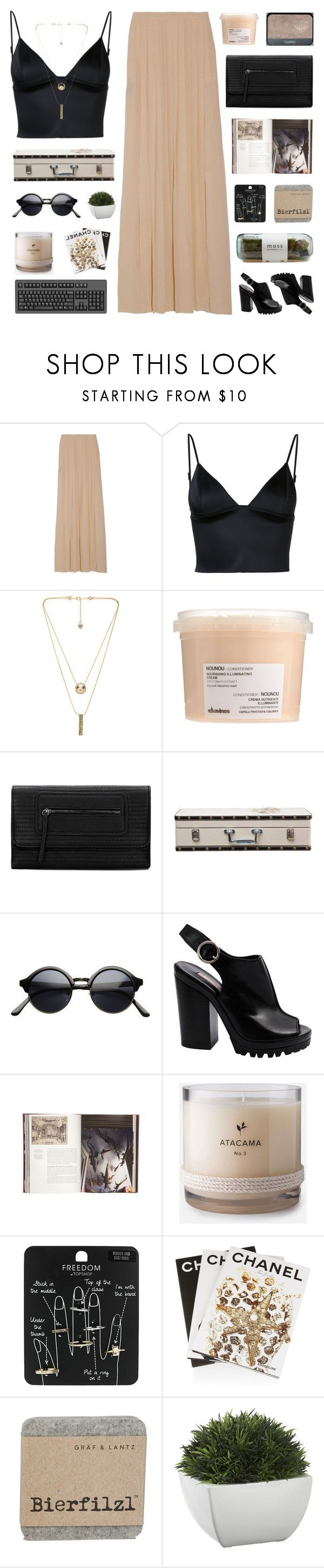 """LUXURY TRAVEL"" by emmas-fashion-diary ❤ liked on Polyvore featuring T By Alexander Wang, House of Harlow 1960, Davines, Design 55, Michael Kors, Jayson Home, Topshop, NARS Cosmetics, Assouline Publishing and Crate and Barrel"