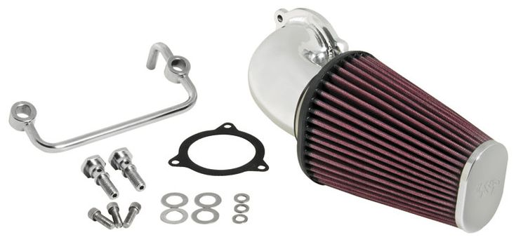 K&N HARLEY-DAVIDSON PERFORMANCE INTAKE Kit. *FLH SERIES 2008-17 (+12.92hp)*