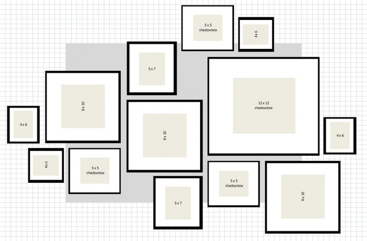ikea ribba gallery wall layout 1 excel