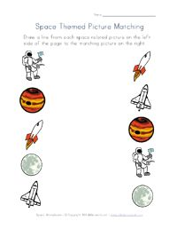 space worksheets for several different skills