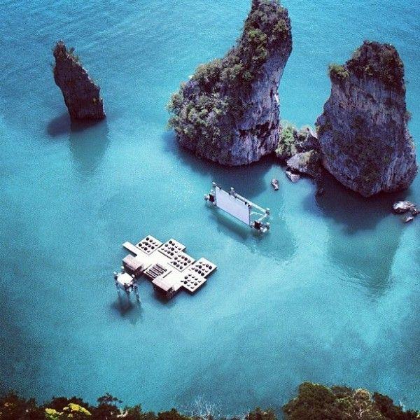 Thailand's Floating Movie Theater: Film Festivals, The Rocks, Movie Theater, Theatre, Film Film Film, Thailand, Floating Cinema, Favorite Recipes, Movie Movie Movie