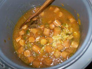 La Cocina De Nathan: Cuban, Spanish, Mexican Cooking & More: Arroz Amarillo Con Salchichas (Yellow Rice With Vienna Sausage)