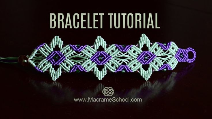 Star Flower Bracelet Tutorial by Macrame School