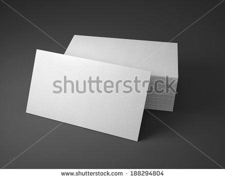 stack of business cards mockup - stock photo