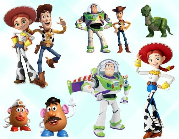 Toy Story Clipart Toy Story Characters Png Printable Toy Story Cartoon Images Transparent Background Instant Download Toy Story Characters Toy Story Movie Toy Story