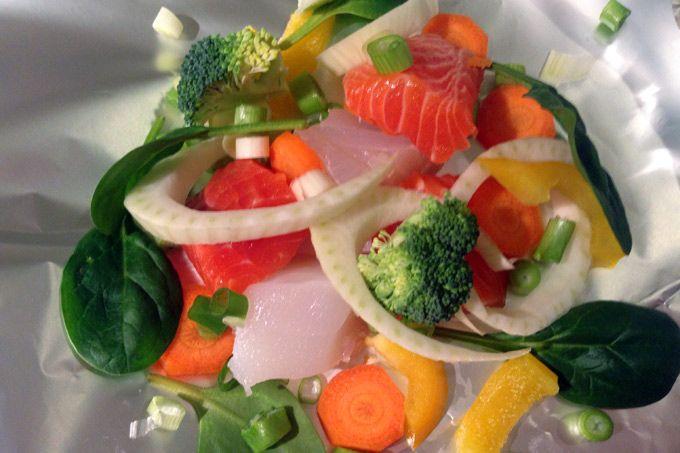 Fiskepakke med fisk og grønnsaker | Bra hverdag