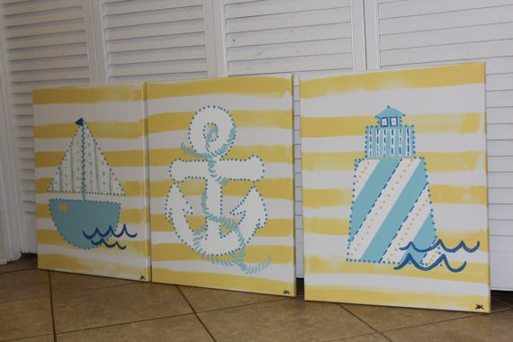 sailboat painting anchor painting lighthouse