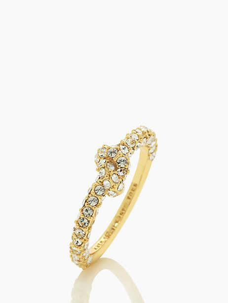 sailor's knot pave ring - kate spade new york