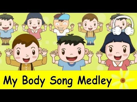 ▶ Muffin Songs - My Body Song Medley | Nursery Rhymes Collection | Head and shoulders, knees and toes - YouTube