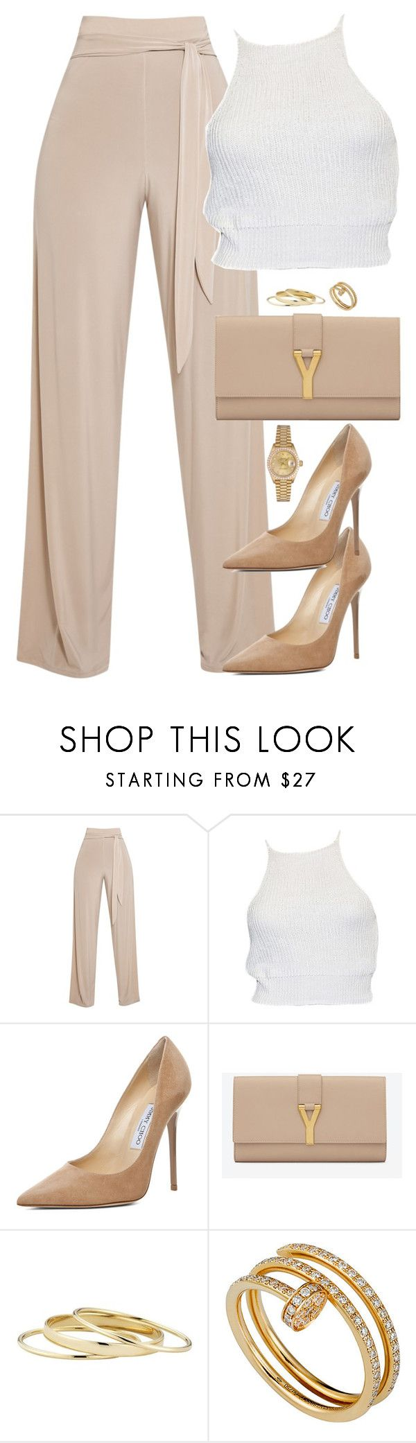 """Unbenannt #2099"" by luckylynn-cdii ❤ liked on Polyvore featuring Jimmy Choo, Yves Saint Laurent, Minor Obsessions, Cartier and Rolex"