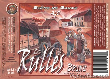 Rulles Brune Style: Belgium Brown Ale ABV: 6.5%  Deep coffee and dried fruit center is brought forward by a touch of hops, creating balance and delicious clarity. Think Shepherd's Pie, burgers and roasts.