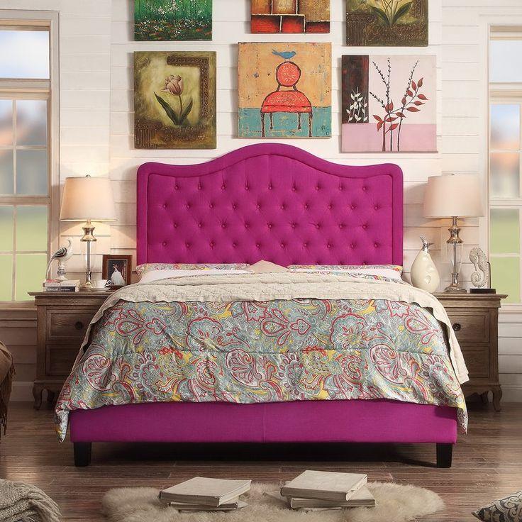 Crombach Upholstered Panel Bed Upholstered bed frame