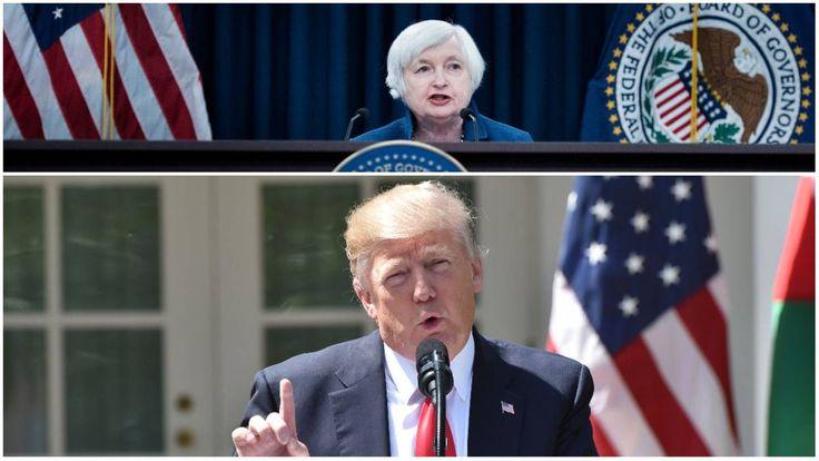 """L'indépendance de la banque centrale américaine (Fed) est cruciale. Mais elle est """"menacée"""" par des pressions politiques, a mis en garde sa présidente Janet Yellen.  """"Une forme de menace pèse sur notre indépendance"""", a déclaré Janet Yellen lors d'une..."""
