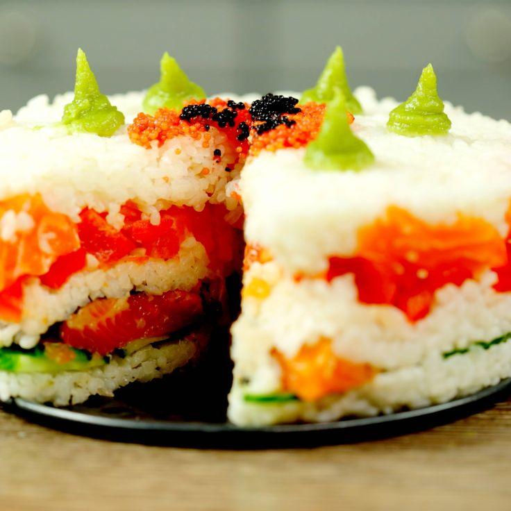 Salmon Birthday Cake: 25+ Best Ideas About Sushi Cake On Pinterest