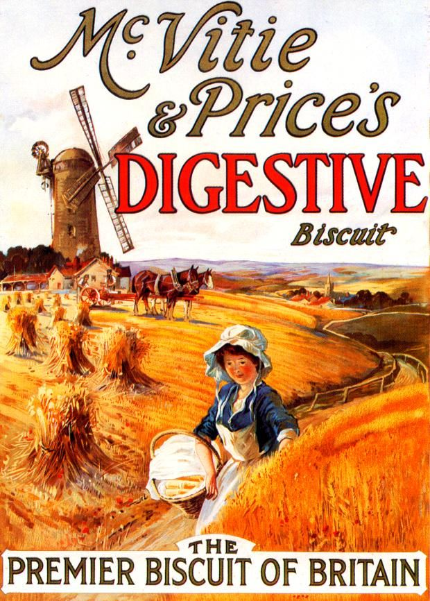 Vintage advert for McVitie & Price's Digestive Biscuit.