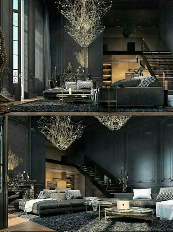 25 Modern Gothic Living Room Design And Decorating Ideas With