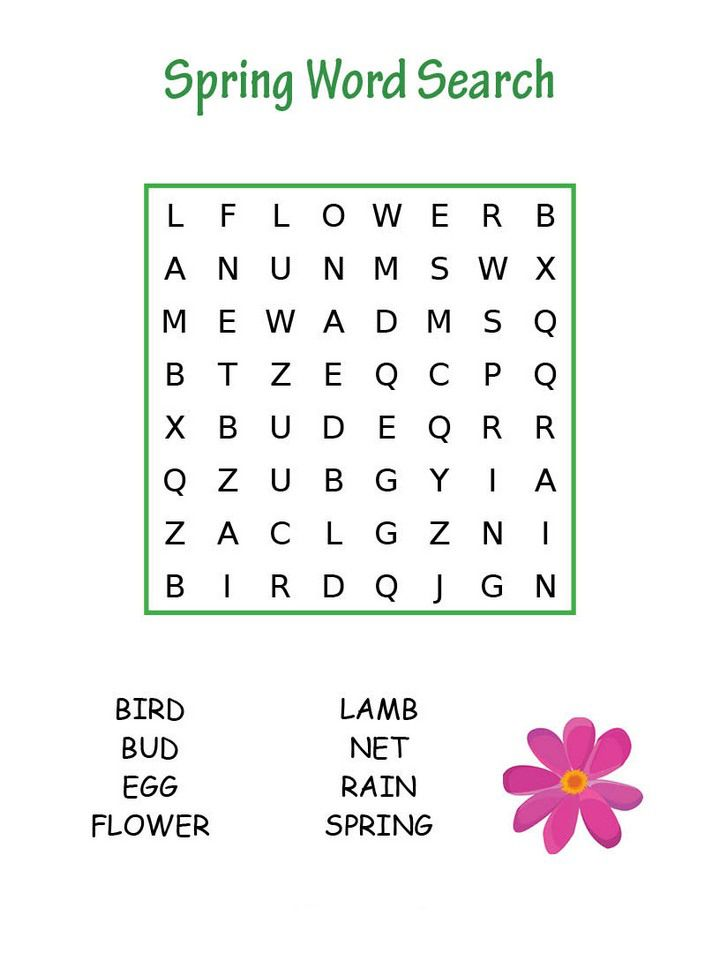 photograph regarding Kindergarten Word Search Printable identified as Spring Phrase Look Puzzles and Video games Spring words and phrases