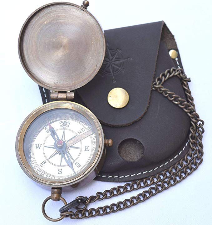 Neovivid Engravable Compass Pocket Compass Brass Compass With