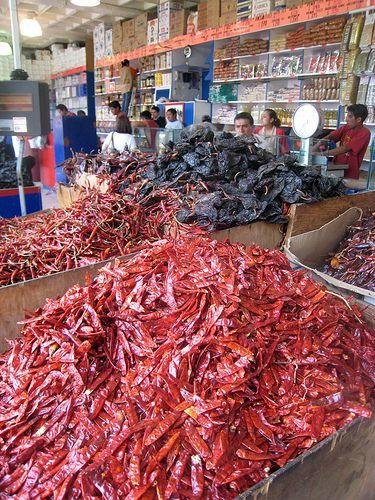 Dried Chili Market, Mexico City