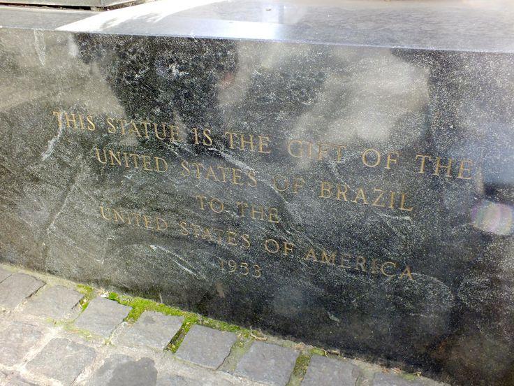 Jose Bonifacio de Andrada e Silva statue at Bryant Park in New York City.