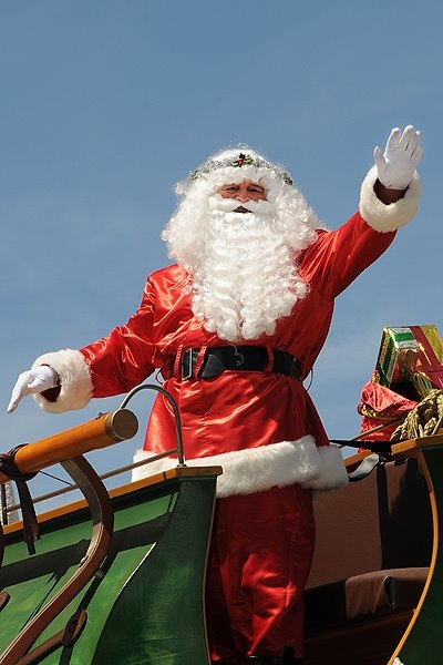 Father Christmas at Adelaide's annual Christmas Pageant, 2011. #santa #christmas #pageant #southaustralia