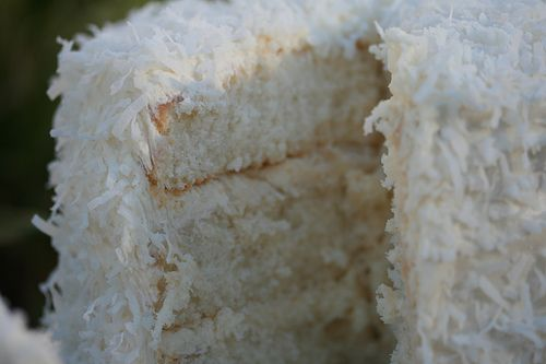 Sweet slice of heaven on a plate.. coconut cake