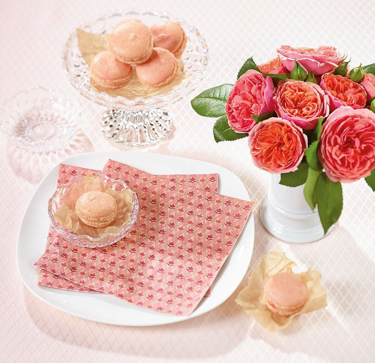 Paper + Design - pink floral premium paper napkins from Germany