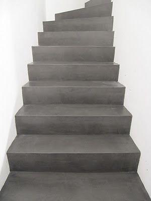beton cire op trap