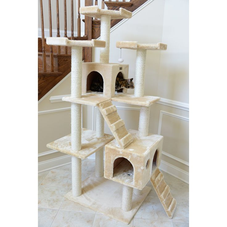 """Cat Tree Condo Bed House Scratching Posts Pet Tower Furniture 74"""" Play Climbing"""