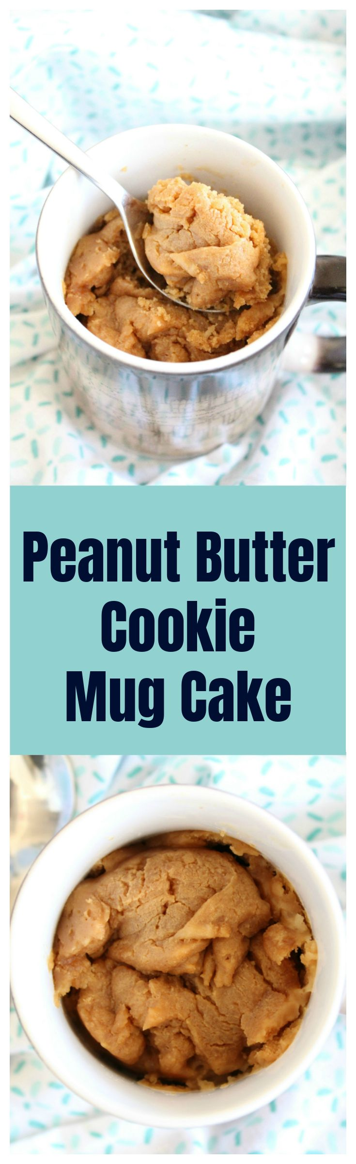 Peanut Butter Cookie Mug Cake – This mug cake takes just a few minutes and tastes just like a peanut butter cookie! Perfect for when you just want a single serving of a dessert!