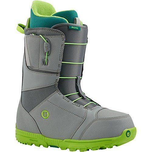 Burton Moto Boots de snowboard S Gray/Green: Laçage Speed Zone. Chausson : chausson Imprint avec lacets intégrés. Amorti : Semelle Dynolite…
