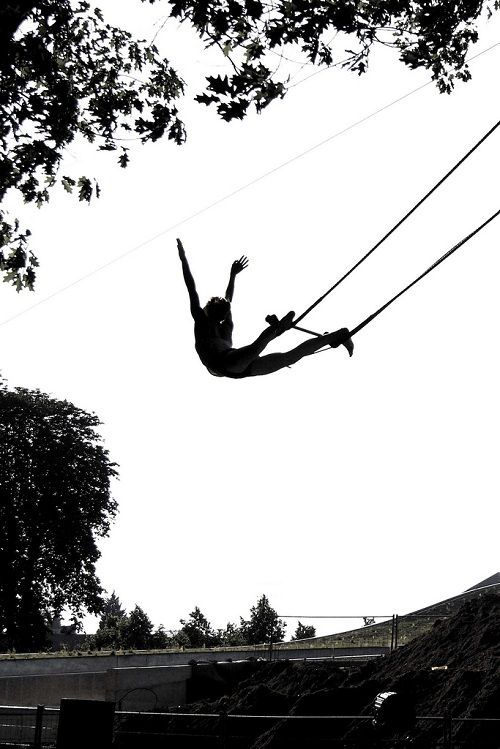 I will swing on trapeze.