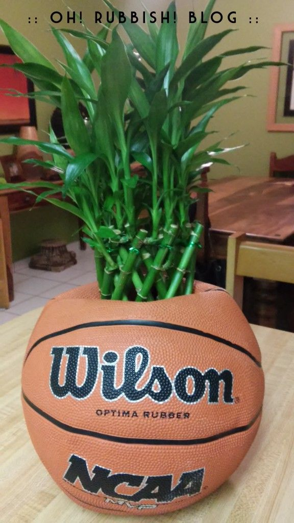 Upcycled Basketball Planter Oh Rubbish GARDEN Projects