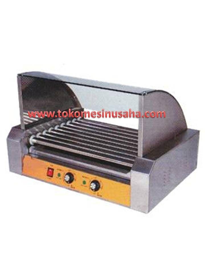 Mesin Hot Dog Roller adalah mesin yang digunakan untuk memanggang sosis ataupun hot dog. Kita ketahui bahwa makanan sosis ataupun hot dog banyak digemari orang, mulai yang dijual di pinggirang jalan hingga dijual di swalayan -swalayan. Spesifikasi : Tipe            : GRL  -ER27 Dimensi    : 58,5 x 35 x 20 cm Power        : 1400 W Bahan        : Stainless steel Berat          : 25 Kg Roller         : 7 Buah