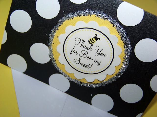 Bee Birthday Party... thank you candy bar bags