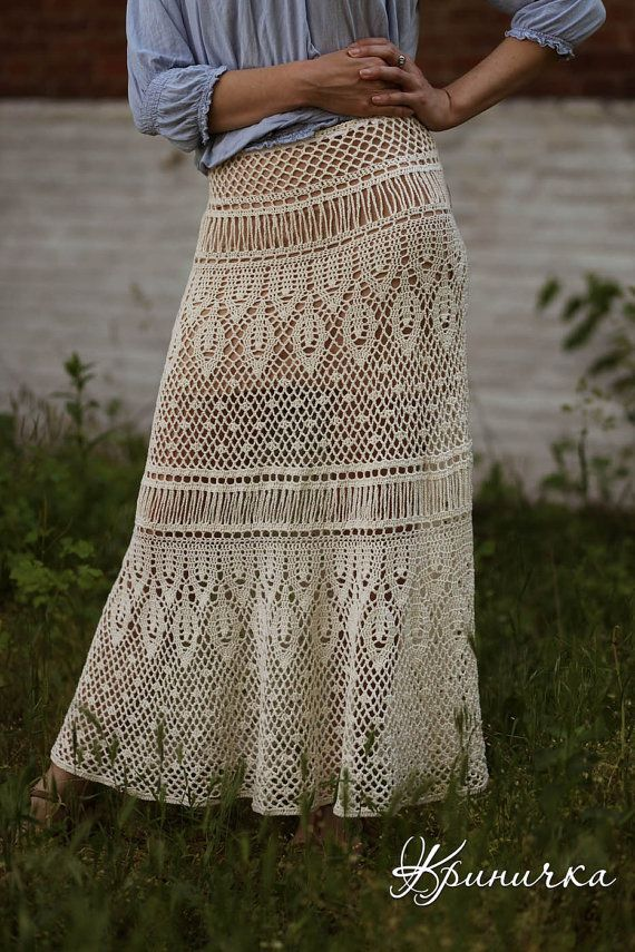 MADE TO ORDER Maxi skirt white handmade maxi skirt by krinichka