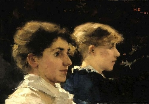 Helene Schjerfbeck, Two profiles of Women